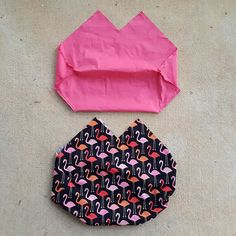 double fabric lining for a crochet bag, crochetbug, flamingoes, flamingo palette, crochet squares, crochet purse