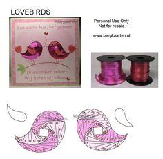Irisvouwen: Lovebirds
