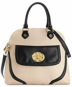 Emma Fox Handbag. Classics Leather Dome Satchel