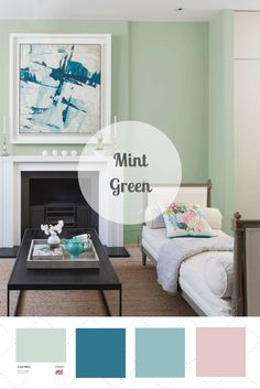 Mint is bright and cheerful, yet muted enough to cover walls from floor to ceiling. Vote for Your Favorite Color Palette on HGTV.com >> http://www.hgtv.com/design/packages/color-vs-color/vote-for-your-favorite-color-palette?soc=pinterest