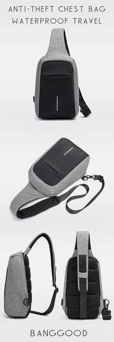 US$25.99+Free shipping. Men Chest Bag,  Travel Bag, Sling Bag. Anti-theft, Waterproof, Night Security, Ergonomic Design, Reversible Shoulder Strap Direction. Color: Black, Grey.