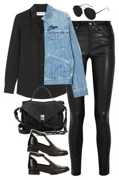 """""""Sin título #1164"""" by osnapitzvic ❤ liked on Polyvore featuring Helmut Lang, Yves Saint Laurent, Étoile Isabel Marant, Rebecca Minkoff and Topshop"""