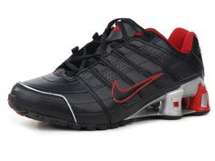 hot sale online 01030 dd820 Nike Shox NZ 2 Men s Running Shoes - Black Red Grey- 80.90