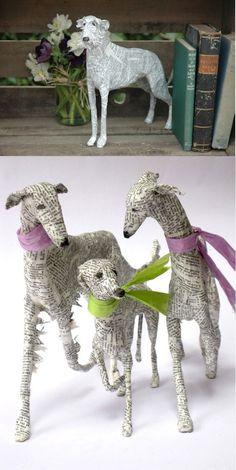 Papier-Mache Dogs