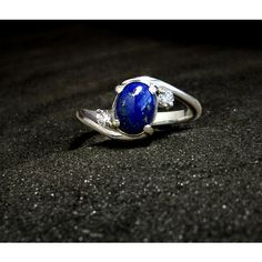 Special Edition Elena Ring: Sterling Silver, Lapis Lazuli, CZ - size... ($90) ❤ liked on Polyvore featuring jewelry, rings, lapis lazuli, twist jewelry, sterling silver birthstone jewelry, sterling silver cz jewelry, sparkle jewelry and birthstone jewellery