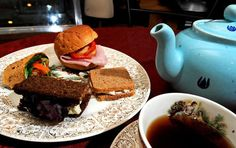 At Java Good Day Cafe this is a sandwich plate that is served with the High Tea order.