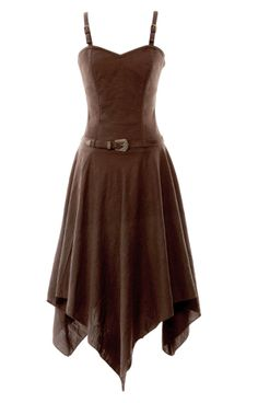 Viscose Handkerchief Corset Dress http://www.vintagegoth.com/Sashaying-Brown-dress_p_51.html