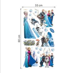 Hot movie wall stickers kids bedroom decorations cartoon film elsa anna olaf hans home decals children girls mural art ** Visit the image link for more details.