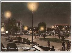 The town park at the upper area by night (not later than 1966)