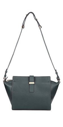 Totally love the shape of this Trapeze Satchel leather handbag