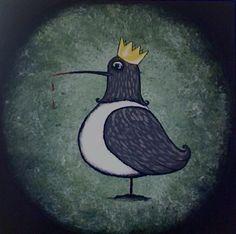 Bird King by Helia Correia, acrylic on canvas, 10x10, 2009