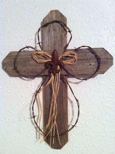 Rustic Wood Cross: