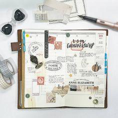 Week 36/2017 #travelersnotebook #travelersfactory #designphil #journal #journallover #keepanotebook #stationeryaddict #keepwriting #手帐