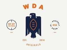 dribbblepopular:  WDA Logo Original: http://ift.tt/1oQlhah