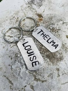 Check out this item in my Etsy shop https://www.etsy.com/listing/270693446/thelma-louise-keychain-set
