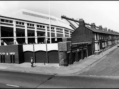 Kop entrance - corner of Kemlyn Road and Oakfield Road, Anfield, Liverpool Liverpool Stadium, Liverpool Football Club, Old Pictures, Old Photos, Football Stadiums, Football Team, This Is Anfield, Liverpool History, Modern Metropolis