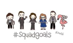 Agent Carter had one of the best squads. || Squadgoals by mintmintdoodles - Visit to grab an amazing super hero shirt now on sale!