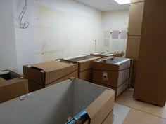 Colella Interiors kitchen installation process - Delivery of the new kitchen.