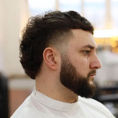 Young Mens Hairstyles, Mohawk Hairstyles Men, Haircuts For Men, Mullet Haircut, Mullet Hairstyle, Haircut Styles, Mullet Fade, Short Mullet, Curly Mullet