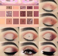 40 Easy Steps Eye Makeup Tutorial For Beginners To Look Great! - 40 Easy Steps Eye Makeup Tutorial For Beginners To Look Great! Eye Makeup Steps, Makeup Eye Looks, Simple Eye Makeup, Makeup For Green Eyes, Pink Makeup, Eyebrow Makeup, Glam Makeup, Bridal Makeup, Pastel Makeup