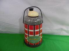 Vintage J.C. Higgins Sear Roebuck Water Jug Cooler Coffee Thermos Glass Insert