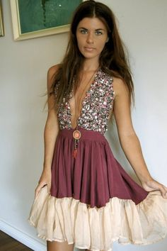 boho hippie dress with a little sparkle