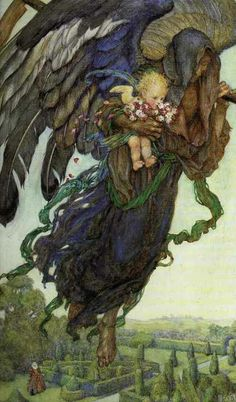 painting by Eleanor Fortescue Brickdale - I see this as beautiful as I believe that angels DO come to us at our death and escort us to whatever fate awaits us.