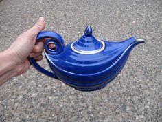 1930s Hall Cobalt Aladdin Teapot by SouvenirSouvenir on Etsy, $40.00