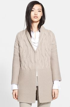 Fabiana Filippi Cable Cashmere Sweater Coat | Nordstrom
