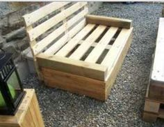 Pallet furniture...we have a bunch of old pallets from the patio project. Hmmm...