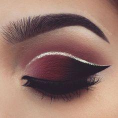 Trendy Hochzeit Make-up Rote Lippen Crease Cut Ideen - . - Makeup Tutorial Smokey - Make-Up Hochzeit Makeup Eye Looks, Cute Makeup, Glam Makeup, Gorgeous Makeup, Pretty Makeup, Skin Makeup, Makeup Inspo, Eyeshadow Makeup, Makeup Art