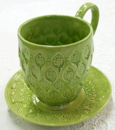 Green Tea Stoneware Cup, Mark Strayer, North Star Pottery