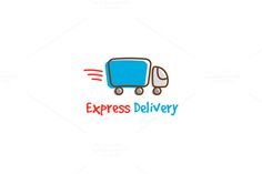 Express Delivery Trendy Logo by Trapezoid on Creative Market