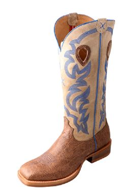 Twisted X Mens Buckaroo Crazy Horse Shoulder/Cream Western Boots Mmkl012