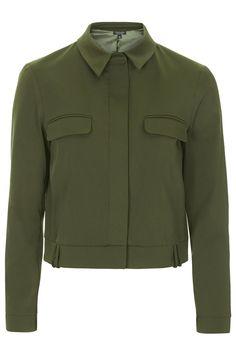 Cropped Harrington Jacket