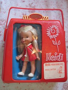 1960s Heidi Pocketbook Doll  -- had one just like this, ohhh how I loved her!!!