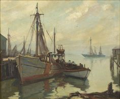 """Morning Gloucester"", Emile A. Gruppe, Emile A. Gruppe"", Private collection."