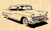 1955 Chevy Downloadable Scroll Saw Pattern