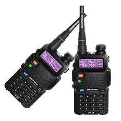 Buy US $52.24  2PCS New Black BAOFENG UV-5R Walkie Talkie VHF/UHF 136-174 / 400-520MHz Two Way Radio EU US RU STOCK  #-PCS #Black #BAOFENG #UV-R #Walkie #Talkie #VHF-UHF #---- #----MHz #Radio #STOCK