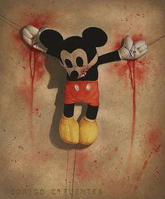 Artist Rodrigo Cifuentes crucified Mickey Mouse