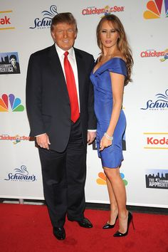 """""""The Celebrity Apprentice"""" season finale at the at American Museum of Natural History on May 2009 in New York City. (Photo by Brad Barket/Getty Images) * Local Caption * Donald Trump;Melania Trump - """"The Celebrity Apprentice"""" Season Finale Malania Trump, Trump One, Pictures Of The Week, New Pictures, Celebrity Outfits, Celebrity Style, First Lady Melania Trump, Trump Melania, Trump Photo"""