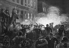 Wikipedia.org/ Haymarket Affair-- (also known as the Haymarket massacre or Haymarket riot) was the aftermath of a bombing that took place at a labor demonstration on Tuesday May 4, 1886, at Haymarket Square[2] in Chicago. It began as a peaceful rally in support of workers striking for an eight-hour day and in reaction to the killing of several workers the previous day by the police. An unknown person threw a dynamite bomb at police as they acted to disperse the public meeting.