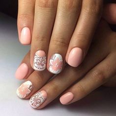 Accurate nails, Delicate nails, Festive nails, flower nail art, Nails ideas with…