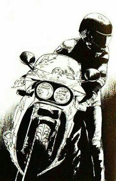 東本 昌平 Suzuki Gsx R, Motorcycle Posters, Motorcycle Style, Gsxr 1100, Japanese Motorcycle, Bike Art, Bike Design, Bike Life, Custom Bikes