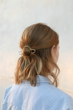 Hair Circle with Fork in Brass