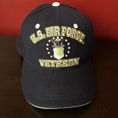 AIR FORCE VETERAN Cap Hat United States Military Eagle Emblem USA Navy  | eBay