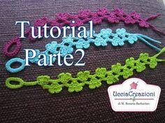 Tutorial 15 Parte1. *Bracciali Cuori Doppi all' Uncinetto* Cruciani Crochet Double-Hearts Bracelets - YouTube