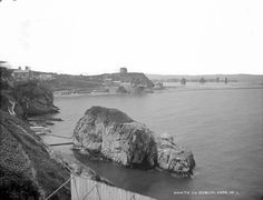 "Bathing Place, Howth, Co. Dublin by French, Robert, photographer Published / Created: [between ca. In collection: The Lawrence Photograph Collection "". Dublin, Old Photos, Mount Rushmore, Bathing, Ireland, Mountains, History, Irish, Photograph"