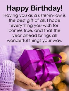 You Are The Best Gift Happy Birthday Card For Sister In Law