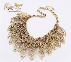 Gold Plated Leaf Design Necklace #prestigeapplause #goldplated #fashion #party #necklaceoftheday #bespoke www.prestigeapplause.com